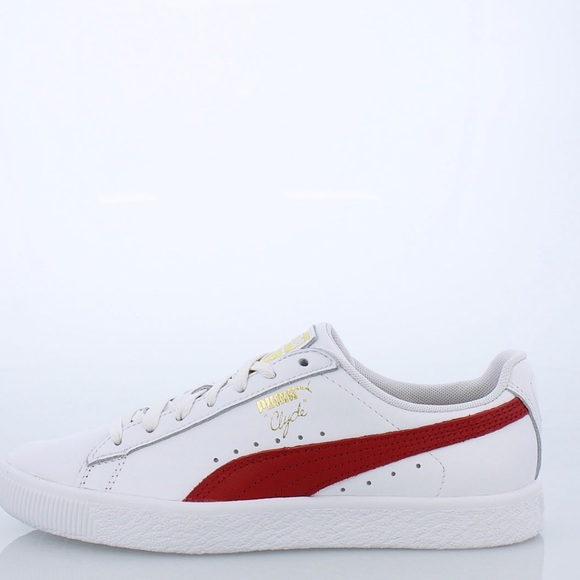 newest c724f 58cba Puma Clyde core white red foil, sneakers